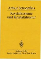 arthur schoenflies   krystallsysteme und kristallstructur