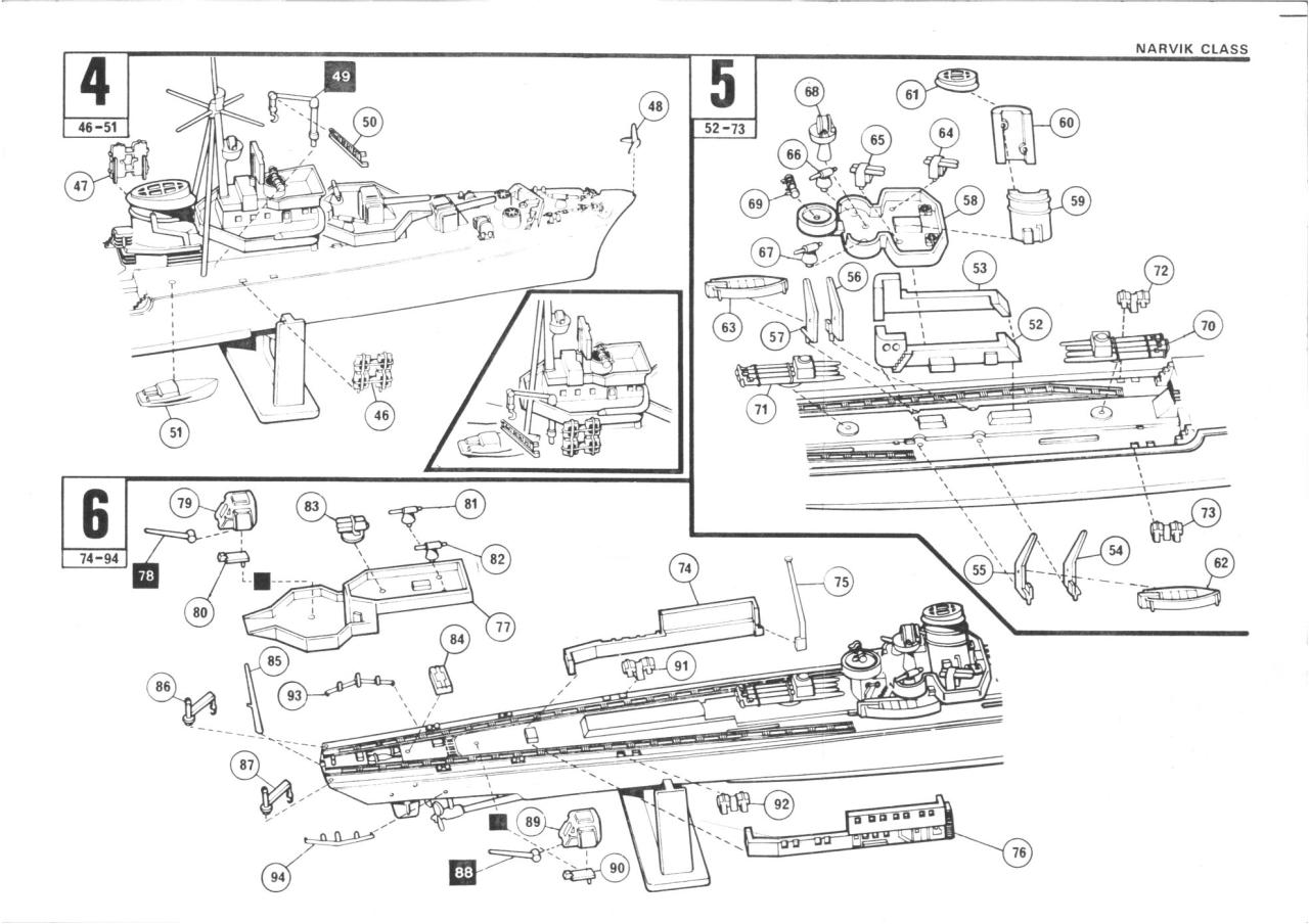 Airfix 600 Narvik Class German Destroyer (02205-9).pdf - page 3/5