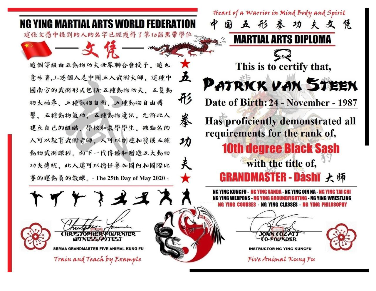 Document preview Patrick van Steen Grandmaster of Martial Arts Ng Ying Kung Fu.pdf - page 1/1