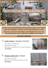 rustic ratties product and price list 1