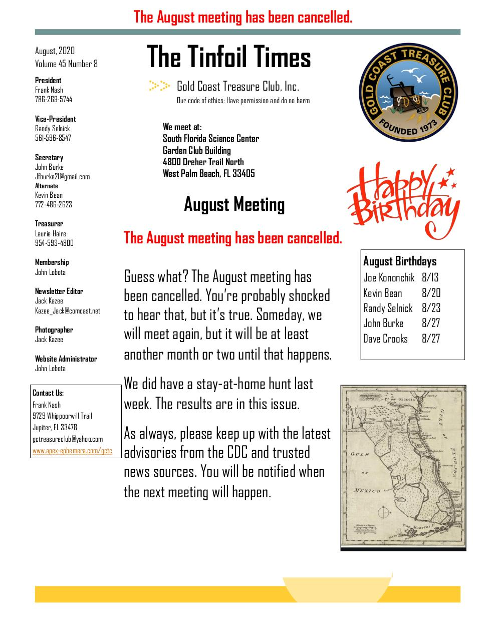 2020 August GCTC Newsletter.pdf - page 1/4
