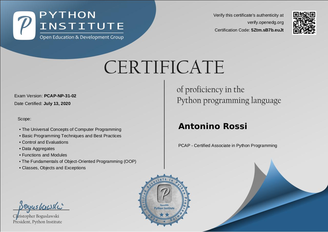 Document preview python_certificate.pdf - page 1/1