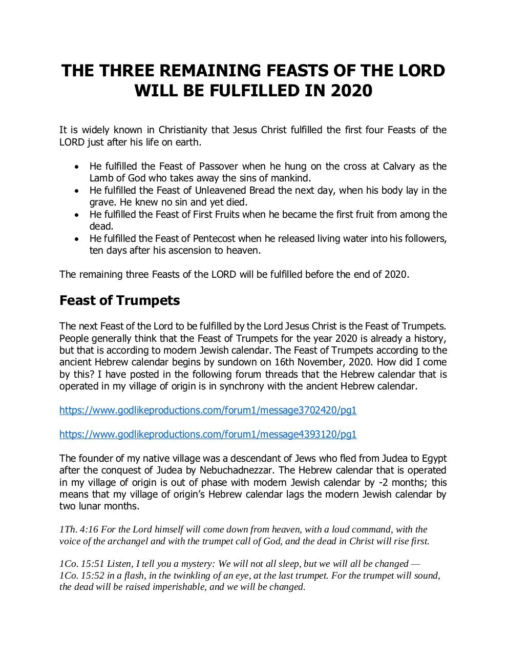 The three remaining Feasts of the LORD will be fulfilled in 2020.pdf - page 1/3
