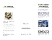 tract 1  one thing good people lack