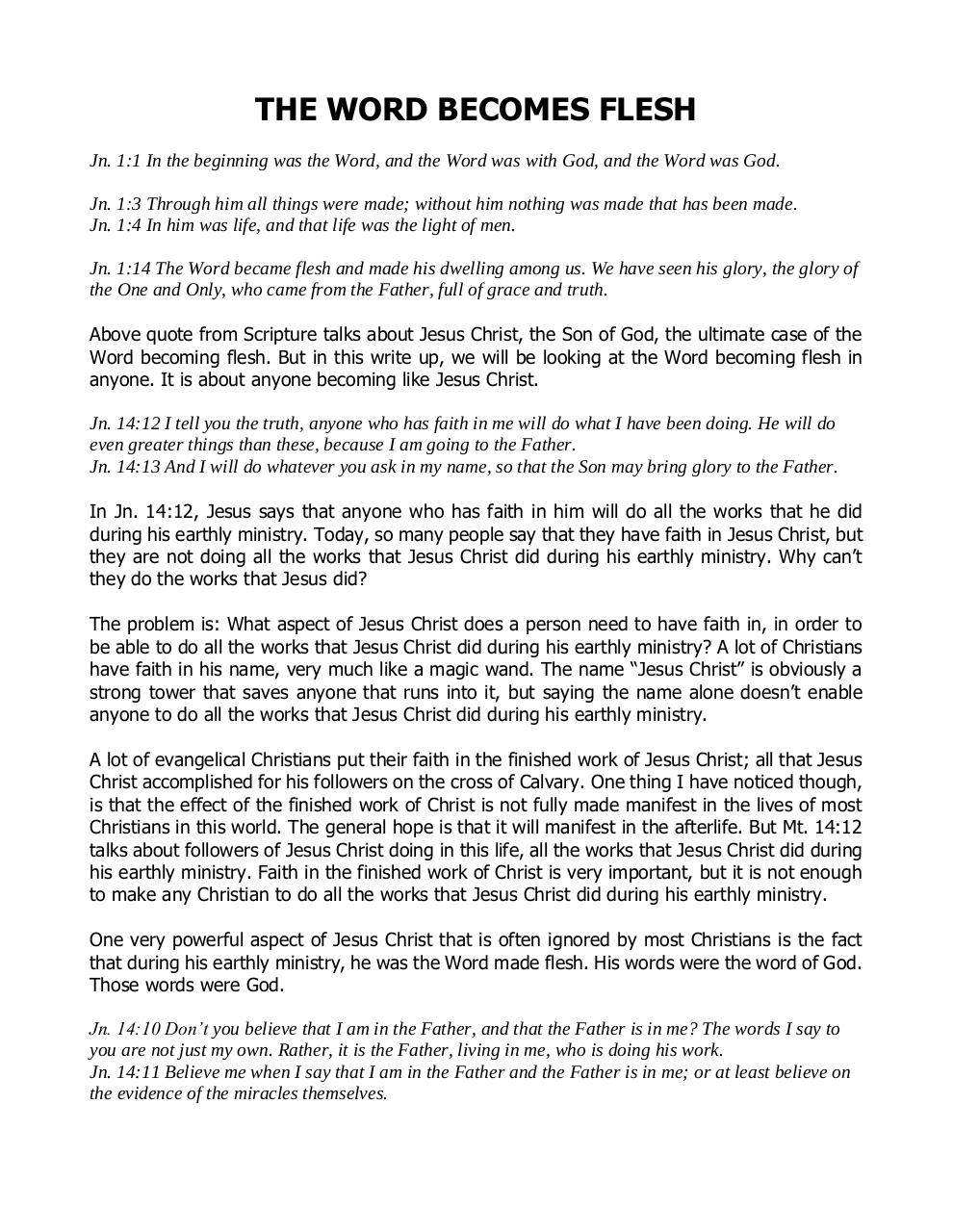 Document preview THE WORD BECOMES FLESH.pdf - page 1/5