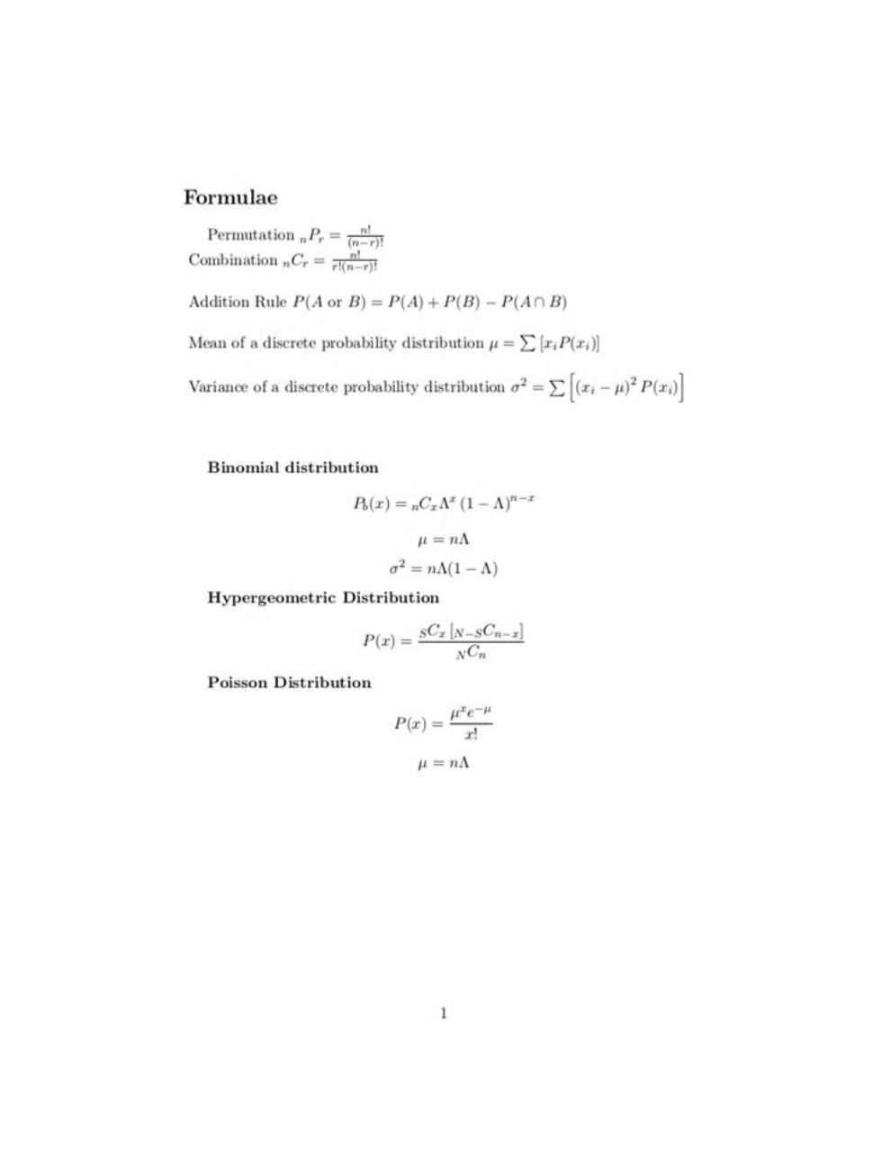 Document preview UsefulFormulae.pdf - page 1/1
