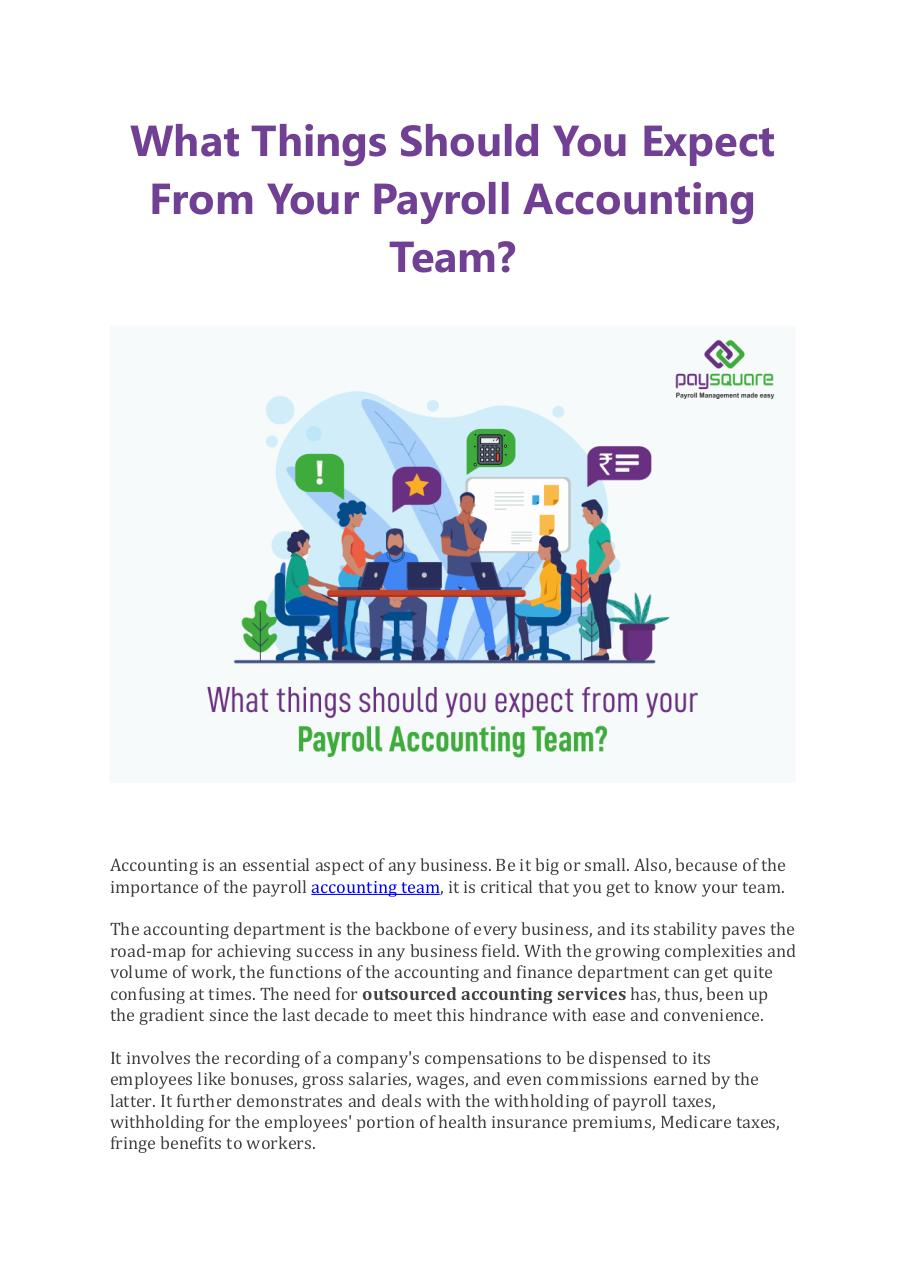 Document preview What Things Should You Expect From Your Payroll Accounting Team.pdf - page 1/4
