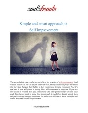 simple and smart approach to self improvement converted