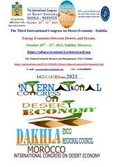 dakhla international conference desert economics energy economic
