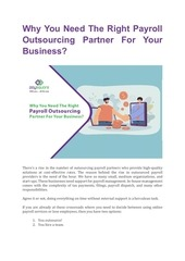 why you need the right payroll outsourcing partner for your busi