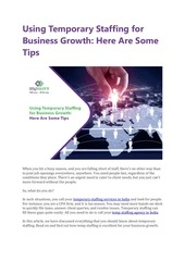 using temporary staffing for business growth here are some tips