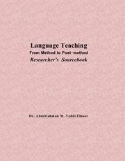 from method to postmethod in language teaching a sourcebook pdf
