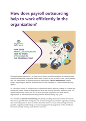 how does payroll outsourcing help to work efficiently in the org
