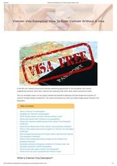vietnam visa exemption how to enter vietnam without a visa