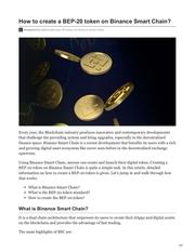 how to create a bep 20 token on binance smart chain