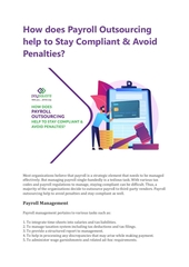 how does payroll outsourcing help to stay compliant  avoid penal