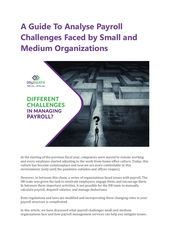 a guide to analyse payroll challenges faced by small and medium
