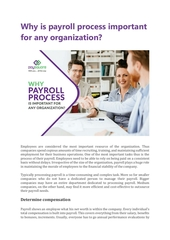 why is payroll process important for any organization