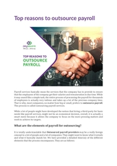 top reasons to outsource payroll