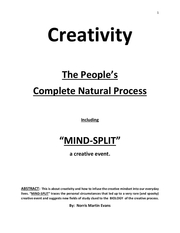 creativity   the peoples complete natural process
